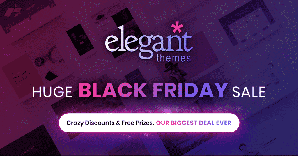 Elegant Themes Black Friday 2019