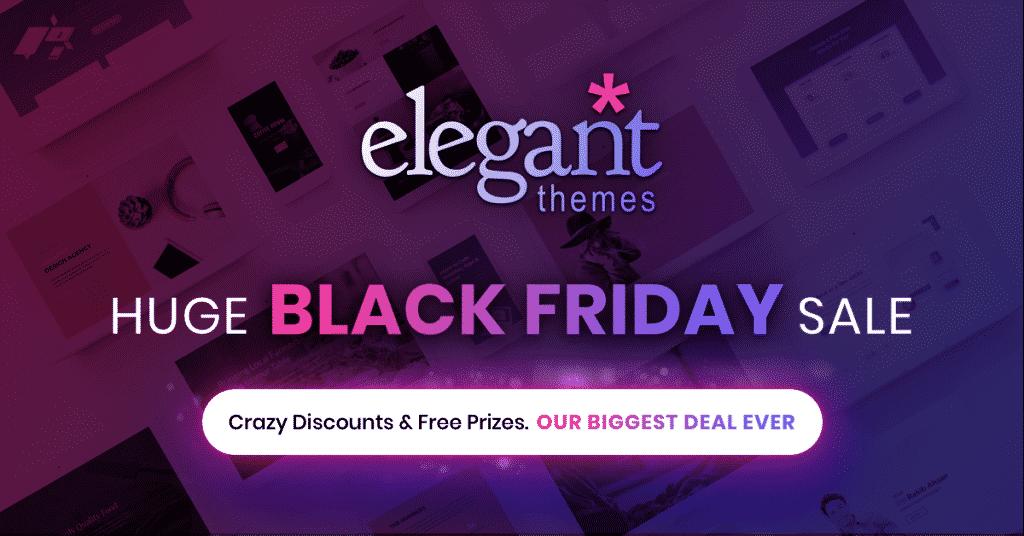 Elegant Themes Black Friday 2018