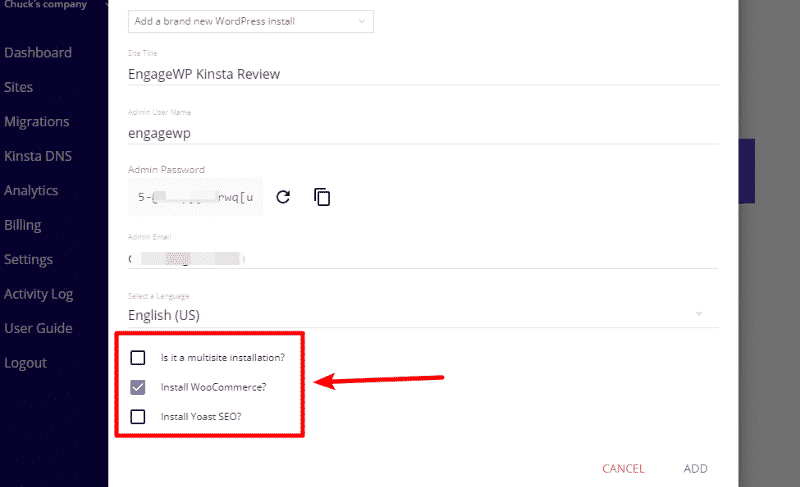 kinsta pre-installed plugins
